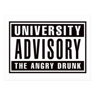 Advisory The Angry Drunk Postcard
