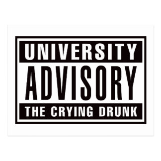 Advisory The Crying Drunk Postcard