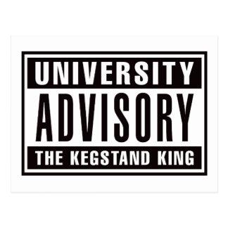 Advisory The Kegstand King Postcard