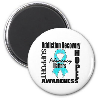 Advocacy Matters Addiction Recovery 2 Inch Round Magnet
