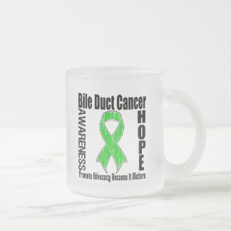 Advocacy Matters Bile Duct Cancer2 Frosted Glass Coffee Mug