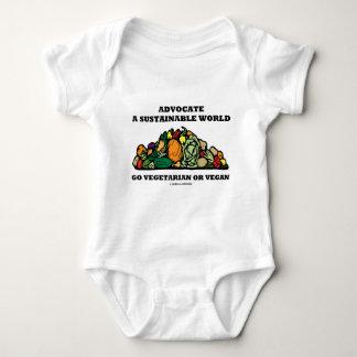 Advocate A Sustainable World Go Vegetarian Vegan Baby Bodysuit