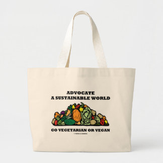 Advocate A Sustainable World Go Vegetarian Vegan Tote Bag