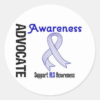 Advocate ALS Awareness Classic Round Sticker
