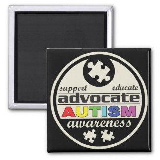 Advocate Autism Awareness 2 Inch Square Magnet