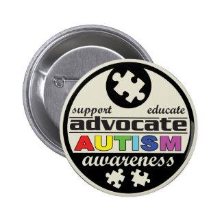 Advocate Autism Awareness Pinback Button