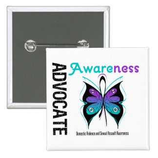 Advocate Awareness v2 Domestic Violence Pinback Button