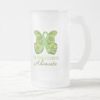 Advocate - Butterfly Non-Hodgkins Lymphoma 16 Oz Frosted Glass Beer Mug