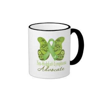 Advocate - Butterfly Non-Hodgkins Lymphoma Ringer Coffee Mug
