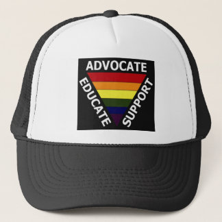 Advocate Educate Support gay rights Trucker Hat