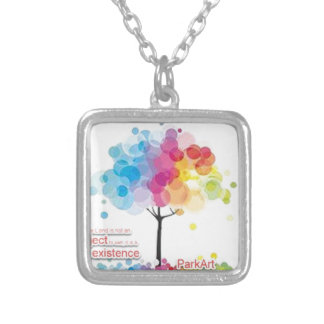 Advocate for art and parks! silver plated necklace