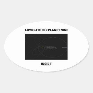 Advocate For Planet Nine Inside Astronomy Attitude Oval Sticker