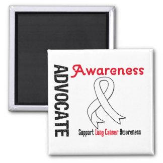 Advocate Lung Cancer Awareness Refrigerator Magnet