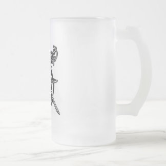 Adwalton CC Frosted Beer Stein Mugs