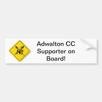 Adwalton CC Supporter on Board Bumper Sticker