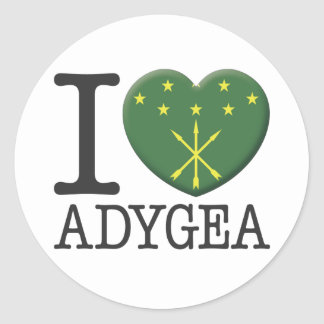 Adygea Pegatina Redonda