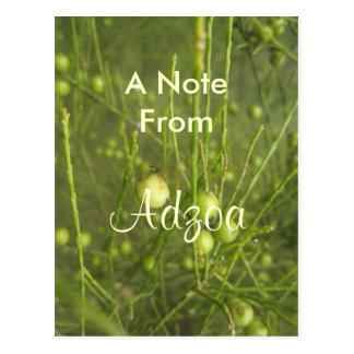 Adzoa Girls name Postcard
