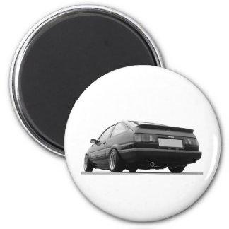 AE86 Black & White 2 Inch Round Magnet