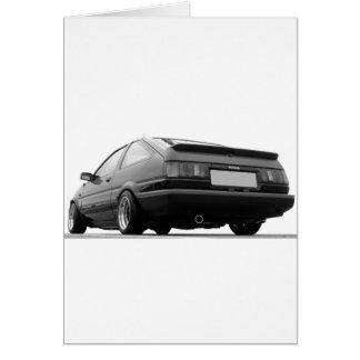 AE86 Black & White Card