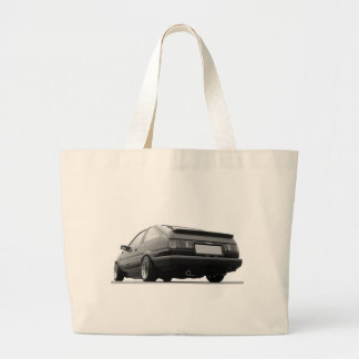 AE86 Black & White Large Tote Bag