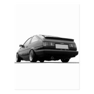 AE86 Black & White Postcard