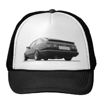 AE86 Black & White Trucker Hat