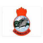 AE-22 USS Maunakea Ammunition Ship Military Patch Post Card