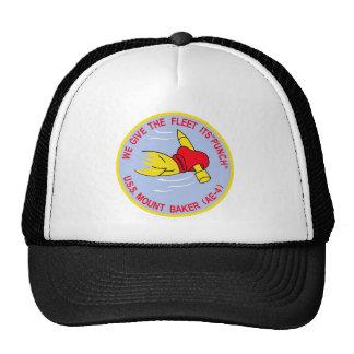 AE-4 USS MOUNT BAKER Ammunition Ship Military Patc Trucker Hat