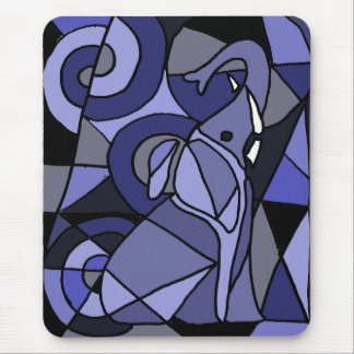 AE- Abstract Art Elephant Mouse Pad