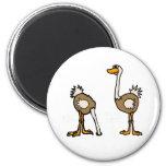 AE avestruces en arena Imán Para Frigorífico
