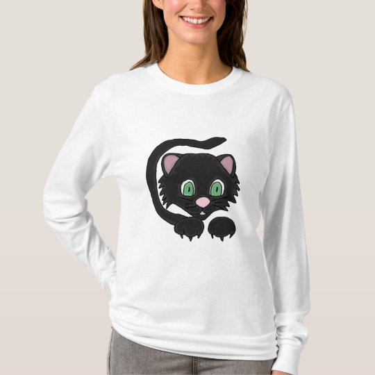 AE- Awesome Black Cat Artistic T-shirt