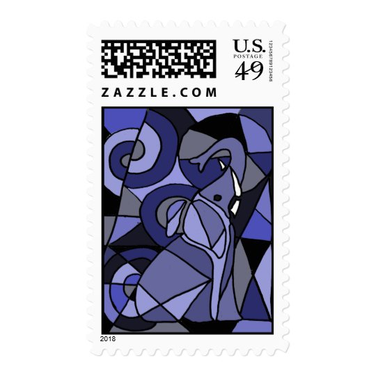 AE- Awesome Elephant Postage Stamps