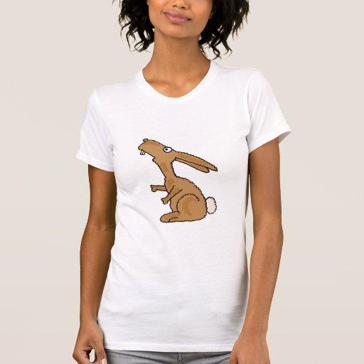AE camisa tonta del dibujo animado del conejo de