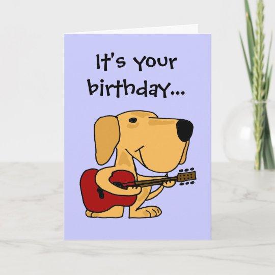 AE Dog Playing Guitar Happy Birthday Card