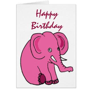 AE- Funny Elephant Birthday Card