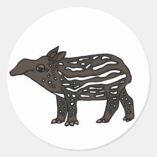 AE- Funny Tapir Cartoon Classic Round Sticker
