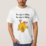 AE- Funny The sky is falling chicken shirt