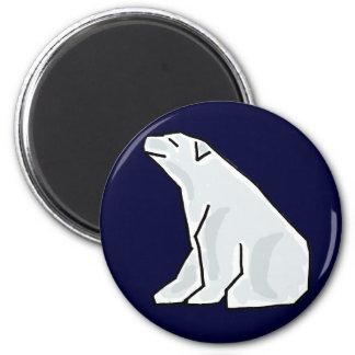 AE imán artsy del dibujo animado del oso polar