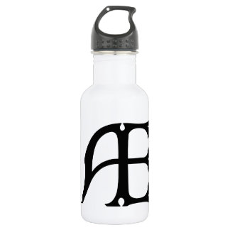 AE Monogram - Initials AE in Gothic Style Letters Water Bottle