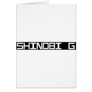 AE Shinobi G white Card