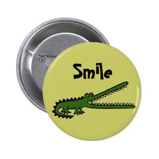 AE- Smiling Croc Button