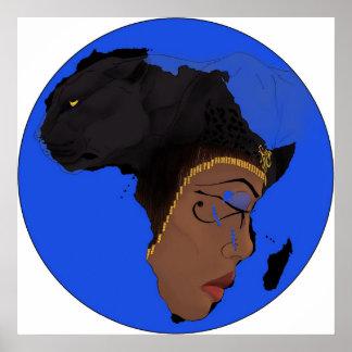 AE Symbols of Africa Print