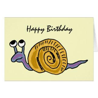 AE tarjeta de cumpleaños divertida del caracol