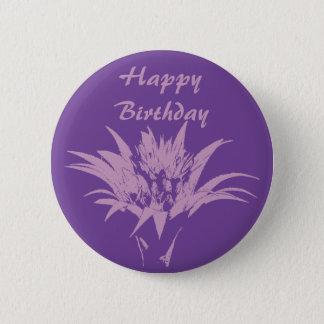 Aechmea Pink and Purple Pinback Button