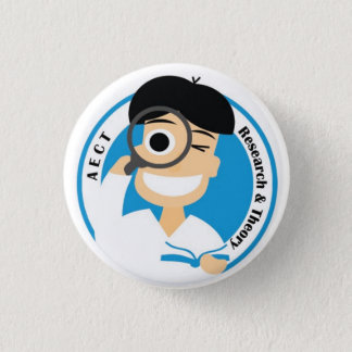 AECT Research and Theory Button-Small Male Pinback Button