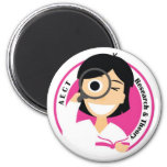 AECT Research and Theory Magnet-Female Logo 2 Inch Round Magnet