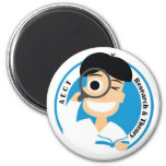 AECT Research and Theory Magnet-Male Logo 2 Inch Round Magnet