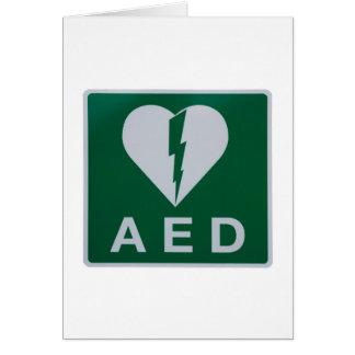 AED Defibrillator symbol Card