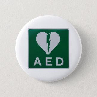 AED Defibrillator symbol Pinback Button