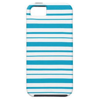 Aegean Sea Blue & White Striped iPhone 5 Case